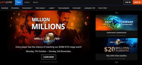 Party Poker home page e1590853851841